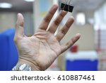 hand with blur background | Shutterstock . vector #610887461