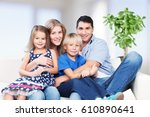 happy family. | Shutterstock . vector #610890641