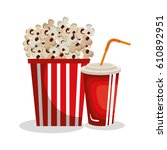 pop corn isolated icon | Shutterstock .eps vector #610892951