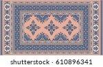 blue and light pink beige... | Shutterstock .eps vector #610896341