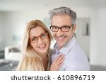 portrait of cheerful middle... | Shutterstock . vector #610896719