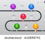 vector infographic elements.... | Shutterstock .eps vector #610898741