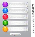 vector infographic elements.... | Shutterstock .eps vector #610898771