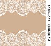 horizontally seamless floral... | Shutterstock .eps vector #610900691