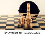 concept of business leadership... | Shutterstock . vector #610906331