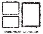 vector grunge frame.distress... | Shutterstock .eps vector #610908635