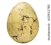 ancient fossil stone egg with...   Shutterstock . vector #610911785
