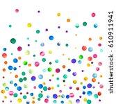 sparse watercolor confetti on... | Shutterstock . vector #610911941
