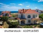 large seaside home  coastal... | Shutterstock . vector #610916585