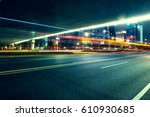 city night scenes at shenzhen... | Shutterstock . vector #610930685