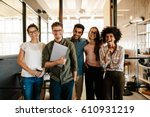 portrait of creative business... | Shutterstock . vector #610931219