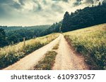 dreamy mountain landscape.... | Shutterstock . vector #610937057