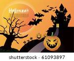 halloween vector illustration | Shutterstock .eps vector #61093897