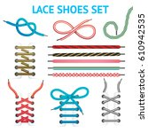 isolated colorful shoelace icon ... | Shutterstock .eps vector #610942535
