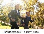 side view of senior couple... | Shutterstock . vector #610944551