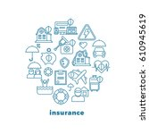 insurance home and property... | Shutterstock .eps vector #610945619