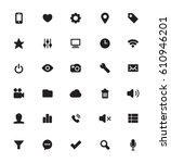 vector app icons black | Shutterstock .eps vector #610946201