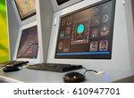 flight controller working in... | Shutterstock . vector #610947701