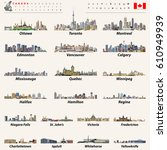 canada largest cities and all... | Shutterstock .eps vector #610949939