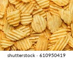 Background Of Potato Crisps...