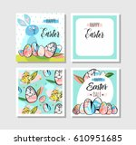 hand drawn vector abstract... | Shutterstock .eps vector #610951685