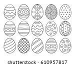 Vector Illustration  Black  Egg ...