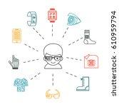 wearable technology. vector... | Shutterstock .eps vector #610959794