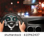 car driving realistic design... | Shutterstock .eps vector #610962437