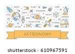 line concept of astronomy.... | Shutterstock . vector #610967591
