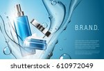 3d realistic cosmetic product... | Shutterstock .eps vector #610972049