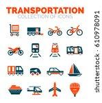transportation vector premium... | Shutterstock .eps vector #610978091