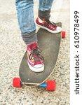 detail longboard partially... | Shutterstock . vector #610978499