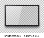 frame of tv. empty led monitor... | Shutterstock .eps vector #610985111