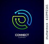 letter q logo  circle shape... | Shutterstock .eps vector #610992161
