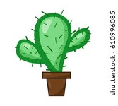 cactus isolated illustration on ... | Shutterstock .eps vector #610996085