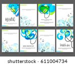 world health day poster or... | Shutterstock .eps vector #611004734