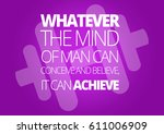 fitness motivation quotes | Shutterstock . vector #611006909
