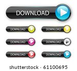 vector web 2.0 menu set for... | Shutterstock .eps vector #61100695