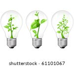 light bulb with sprout inside | Shutterstock .eps vector #61101067