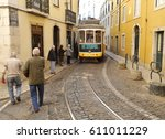 lisbon  portugal   may 2010 ... | Shutterstock . vector #611011229