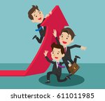 team change  a direction.... | Shutterstock .eps vector #611011985