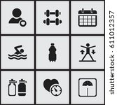 set of 9 editable exercise...