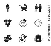 set of 9 editable kid icons....
