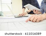 image of engineer meeting for... | Shutterstock . vector #611016089