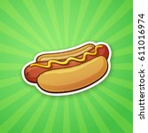 vector illustration. hot dog...   Shutterstock .eps vector #611016974