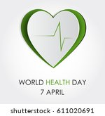 vector world health day design... | Shutterstock .eps vector #611020691