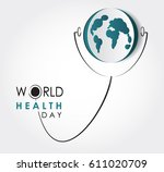 vector world health day design...   Shutterstock .eps vector #611020709