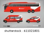 hi detailed transport mockup of ... | Shutterstock .eps vector #611021801