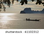 Longtail in the morning Sun, South Thailand! - stock photo
