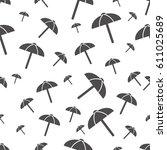 seamless pattern with beach... | Shutterstock .eps vector #611025689